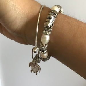 Silver bracelet set. Bracelets are from Bermuda.